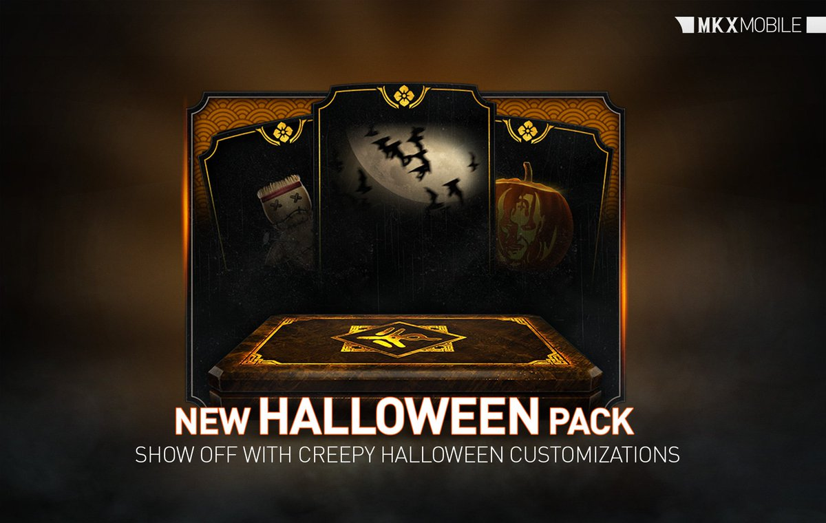 😱 Scare off your opponents and make the most horrifying profile this #Halloween with sickening icons, creepy titles, and nasty backgrounds! Offer your Runes in #FeatsOfStrength now for a chance to unlock these new customizations in the new Halloween Pack! #MKXMobile