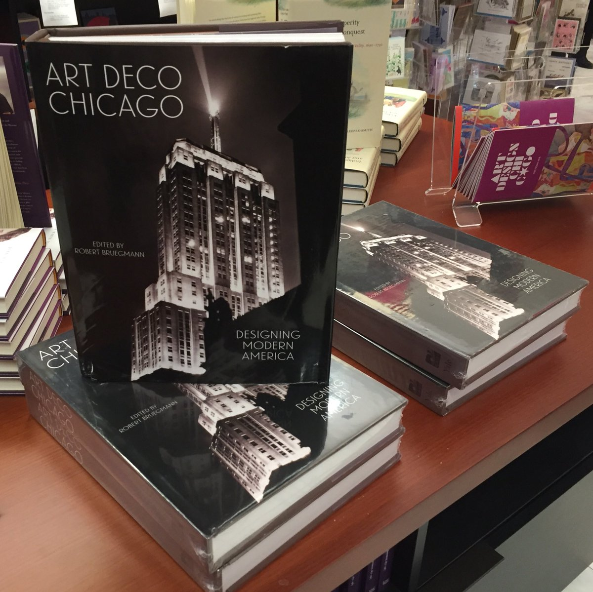 First time seeing this on sale @NewberryLibrary for the launch event tonight! Proud to be part of this project since 2013! @chicagodeco