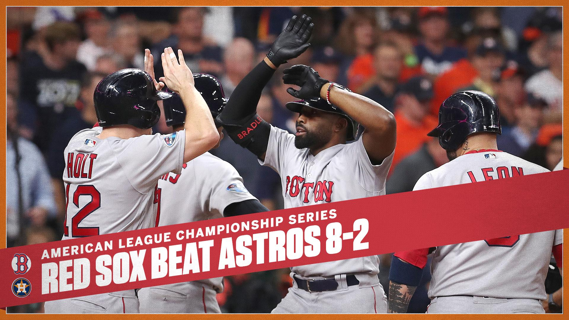 Magic from JBJ!  Jackie Bradley Jr.'s grand slam helped give the Red Sox a 2-1 series lead in the ALCS. https://t.co/mUGfM69jHn