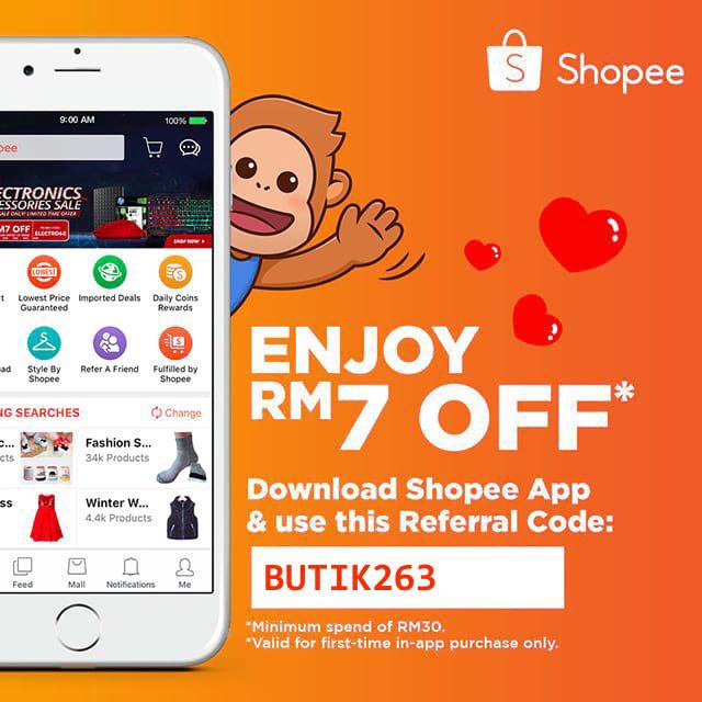 Use my referral code BUTIK263 to get RM7.00 off off your first purchase! Download Shopee now to enjoy free shipping and lowest price guaranteed deals! https://t.co/yO1CVKJBE2 https://t.co/VLQ22hNrvD