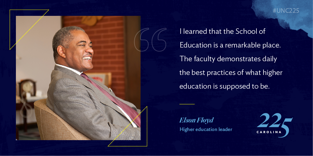 As a leader at Carolina and beyond, the late Elson Floyd was known for his connection with students and his work for affordable, accessible higher education. Discover how this Tar Heel used his voice: https://t.co/t323DLEBCw #UNC225 https://t.co/xw0aedT3YM