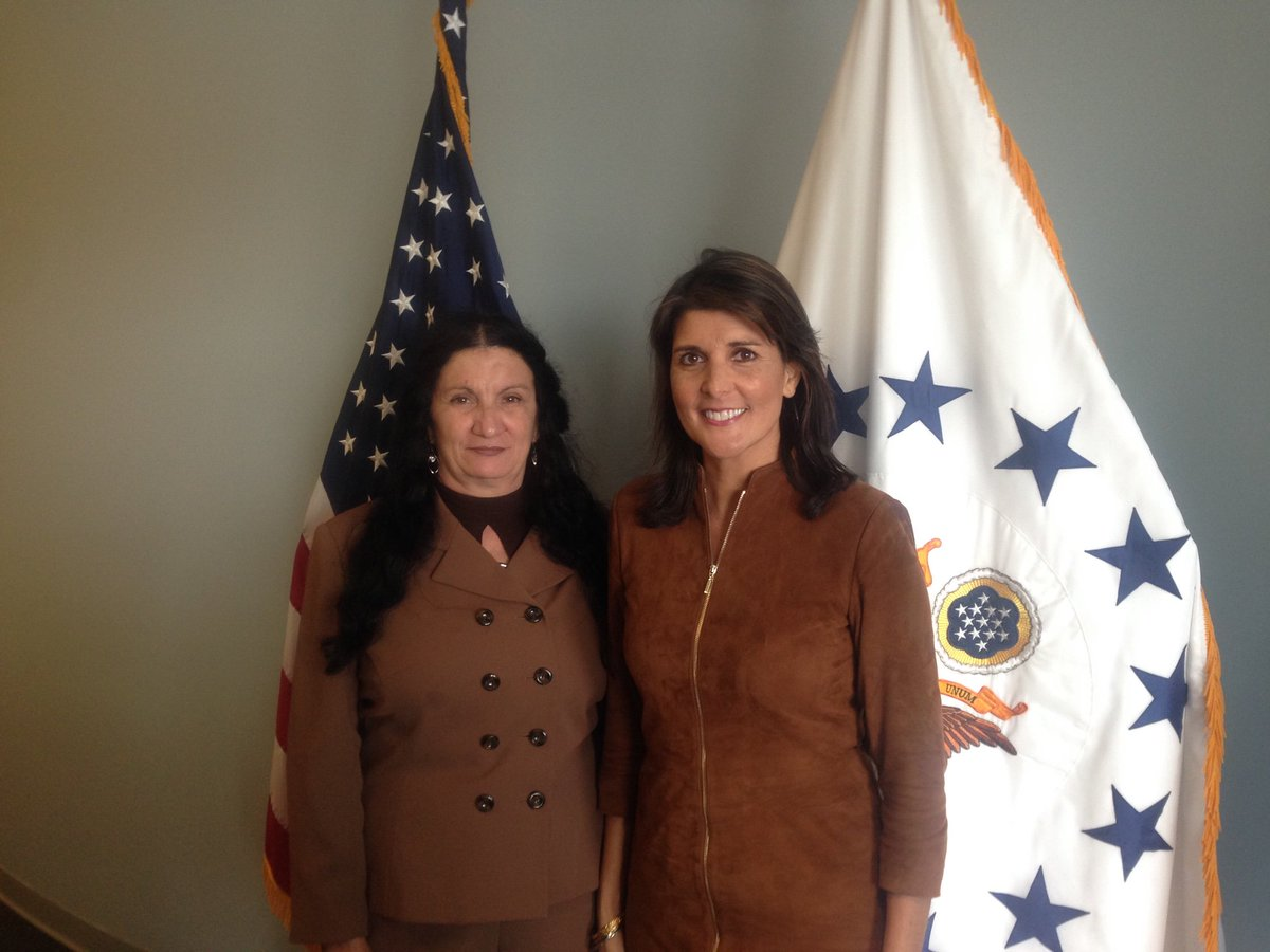 Thank you Ambassador @NikkiHaley for your defense of human rights in Cuba and meeting with @SirleyAvilaLeon, a victim of the Castro regime&#39;s brutal repression.  https://www. dailysignal.com/2016/07/26/one -womans-struggle-for-freedom-in-castros-cuba/ &nbsp; … <br>http://pic.twitter.com/Cw18HQ1rOR