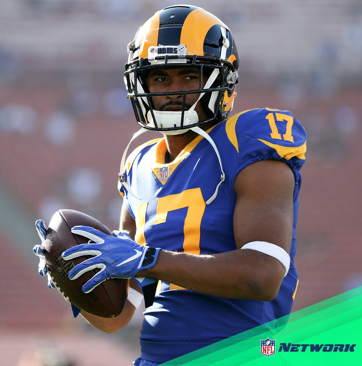 .@robertwoods of the undefeated @RamsNFL joins us NEXT on @NFLTotalAccess! 📺: NFL Network