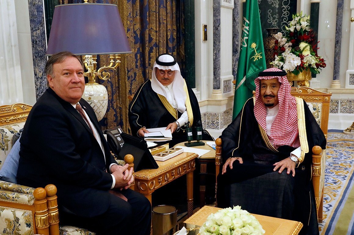 Did @SecPompeo really go to Riyadh to get to the bottom of the Khashoggi murder? Or was it simply to coordinate stories?