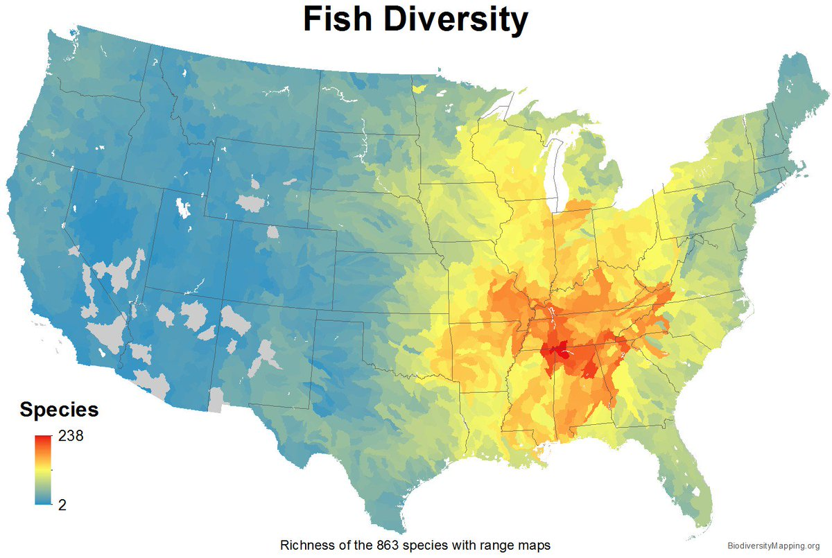 When you think of biodiversity, rainforests &amp; coral reefs may come to mind, but freshwater ecosystems of the southeast U.S. are no slouches. This region is home to  ~two-thirds of the country's fish species, many found nowhere else in the world #FreshFacts  http:// southeastfreshwater.org / &nbsp;  <br>http://pic.twitter.com/Sz3akUreJm