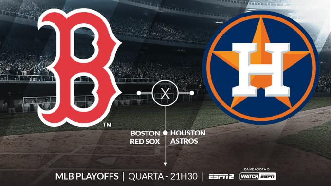 VALE VAGA NA FINAL DA MLB! Boston Red Sox e Houston Astros se enfrentam nesta quarta-feira pelo jogo 4 da final da Liga Americana da MLB. Assista AO VIVO, às 21h30, na ESPN2 e no WatchESPN. #MLBnaESPN Foto