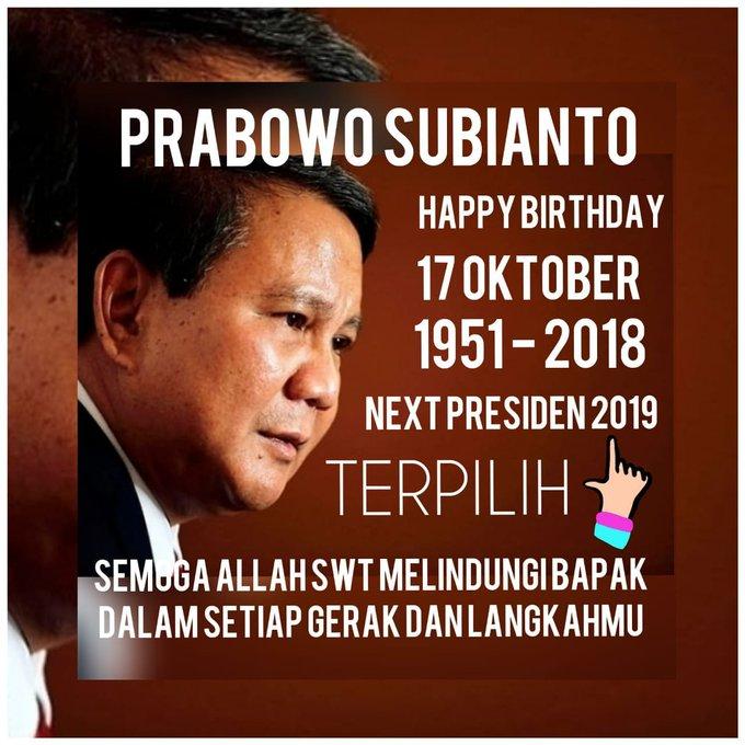 Yup.. Happy Birthday pak Prabowo Subianto..