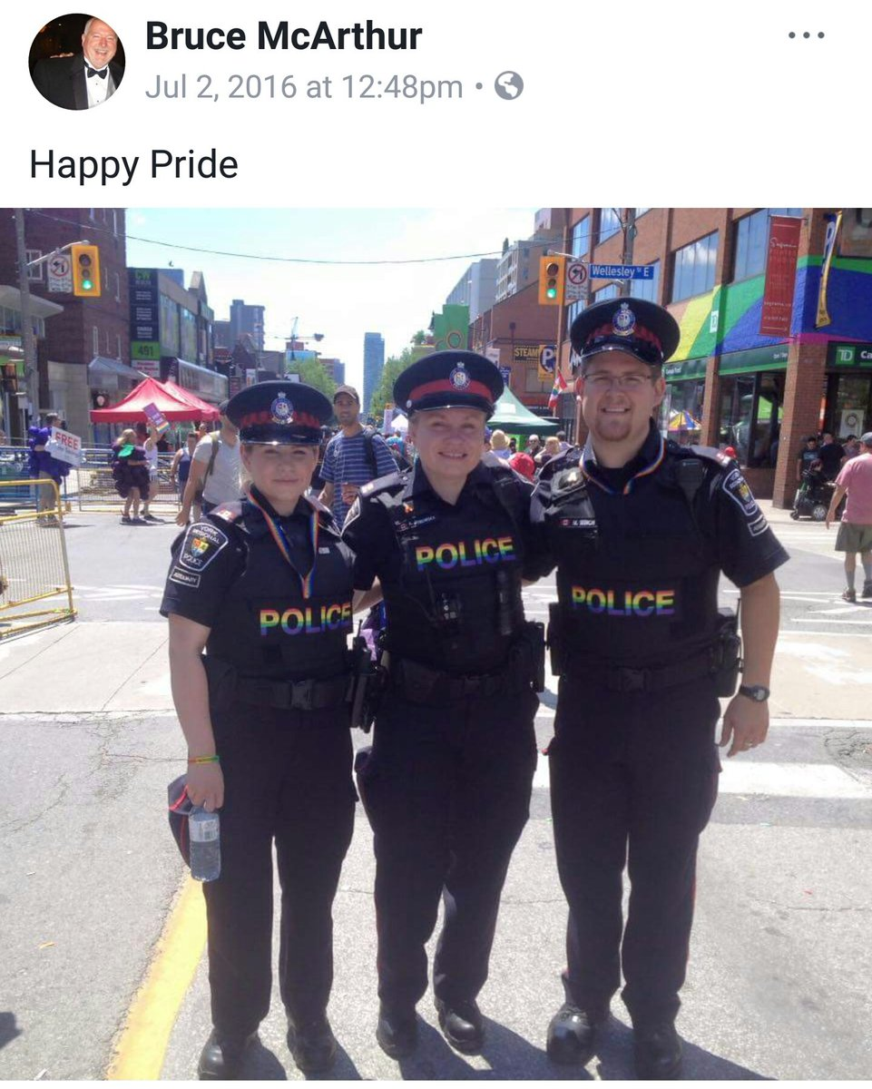 lots of white gays in toronto love cops. here is one of them, from before his facebook account was locked: