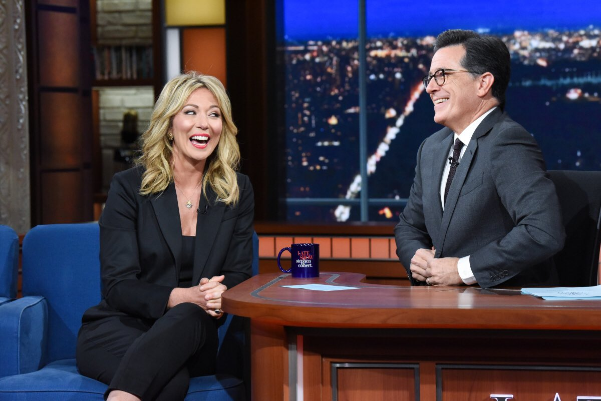 """Bucket list? CHECK. Tune in tonight as it's my first appearance with @StephenAtHome. We talked about politics, how I """"broke into"""" @UNCMJschool back in the day and my CNN series """"American Woman in Politics."""" 🙌🏼"""