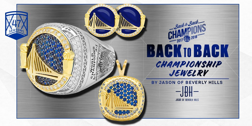 .@warriors Back to Back 🏆🏆 #NBAChampions Rings & Jewelry have arrived!!! Get yours now! 🛒-–>bit.ly/GSWJBH #jbh #warriors #dubnation #2018nbachamps #rings #cufflinks #pendants