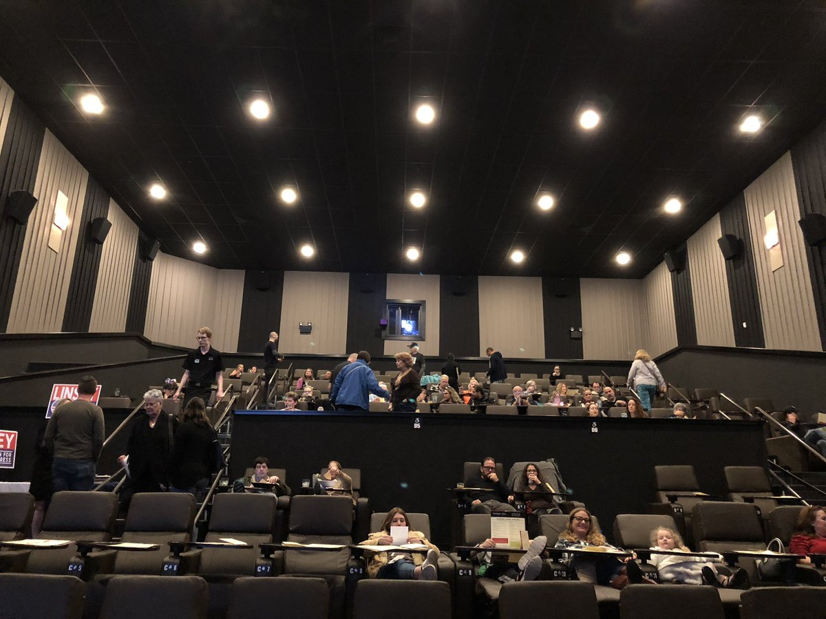 Tonight we watched the future Junior Senator from Texas debate the current Junior Senator from Texas with 75 of our closest friends at a local movie theater. We also got to hear from our next representative from the 26th District. @BetoORourke #TXSenateDebate <br>http://pic.twitter.com/NAmwgdh6El