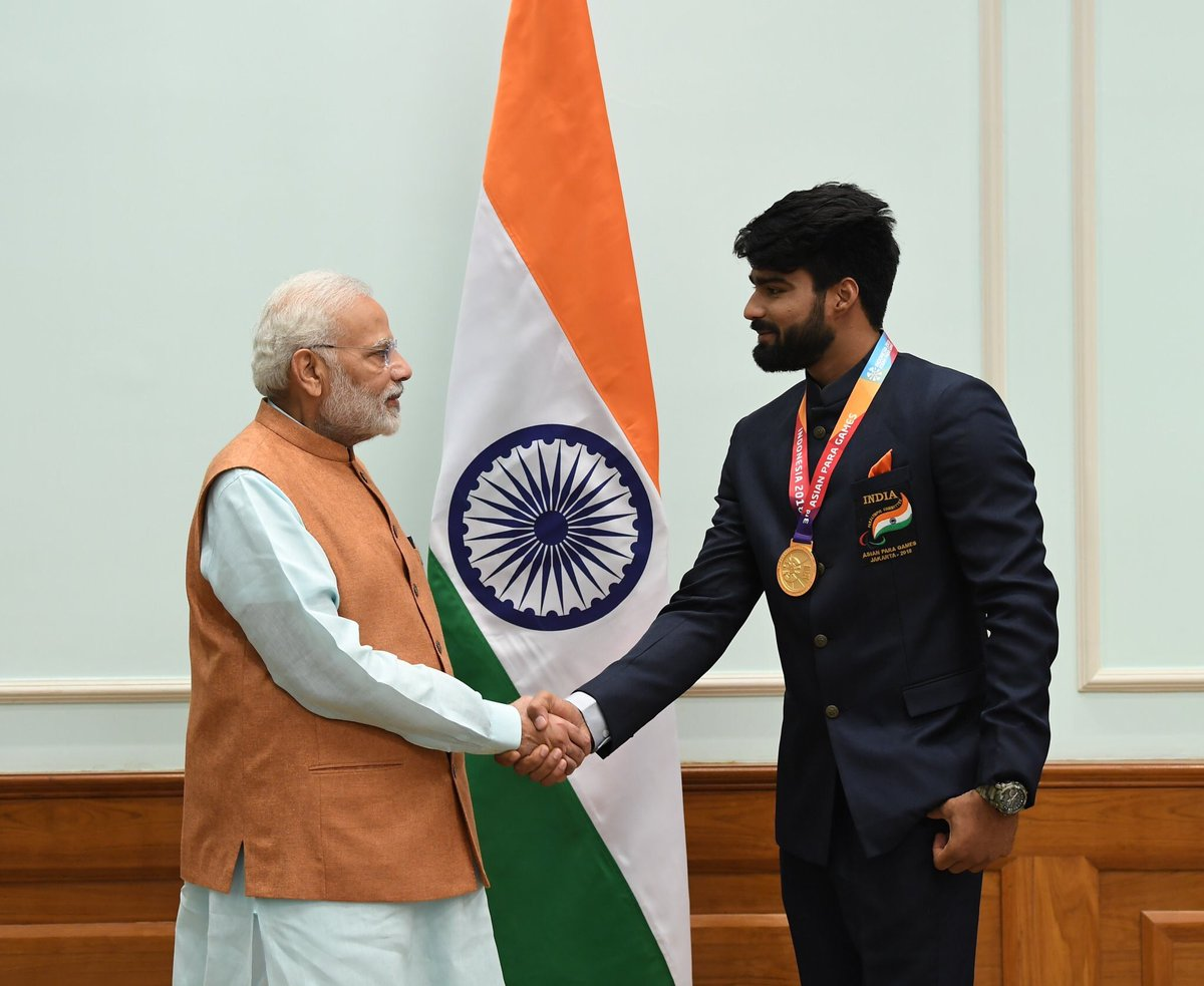 India is immensely proud of the young and talented Sandeep, who brings home a Gold Medal in Javelin, in the F44 category. My best wishes for his future endeavours.