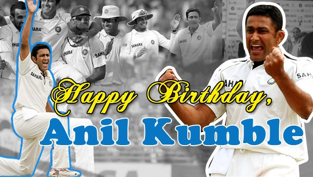 Happy Birthday to u our former Indian Cricketer Captain Jumbo Anil Kumble