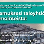 Image for the Tweet beginning: Vastaa kyselyyn taloyhtiöiden energiatehokkuustoimista 4.11.
