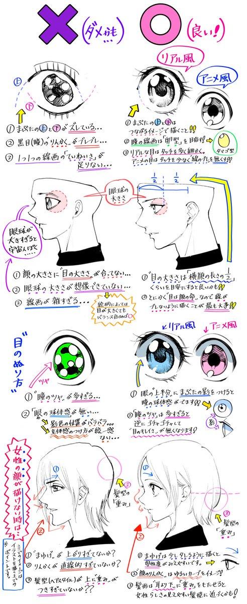 吉村拓也fanboxイラスト講座 On Twitter 目の描き方 男と女