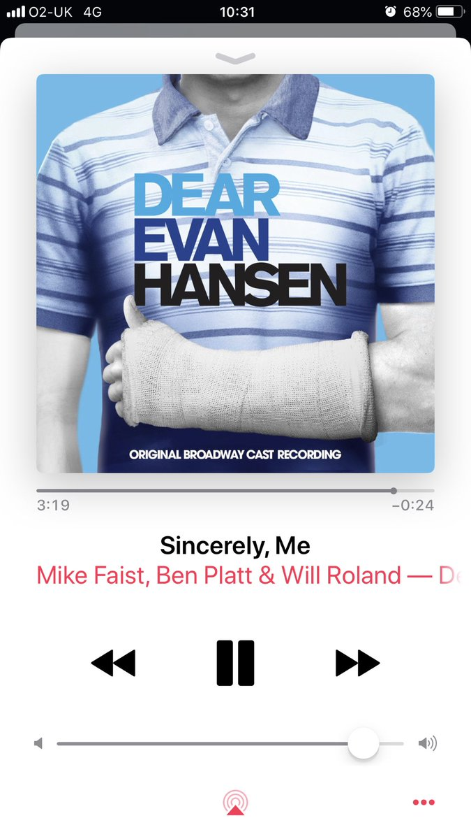 I freakin' love the music from @DearEvanHansen especially this song 😂 Can't wait for it to come to London!
