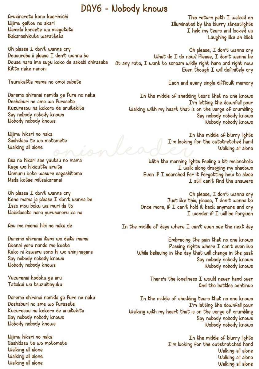 Jia On Twitter Thread Day6 Unlock Full Lyrics English Translation By Yours Truly Posted According To This List So You Can See How The Love Story Progresses Disclaimer The Translation Mask up my pain, hold back my tears i'm going insane; lyrics english translation