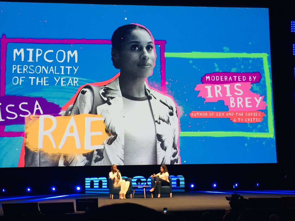 #issarae Personality Of The Year at #mipcom . This is pure talent !! Cc @mip https://t.co/Xn84OGPPoo