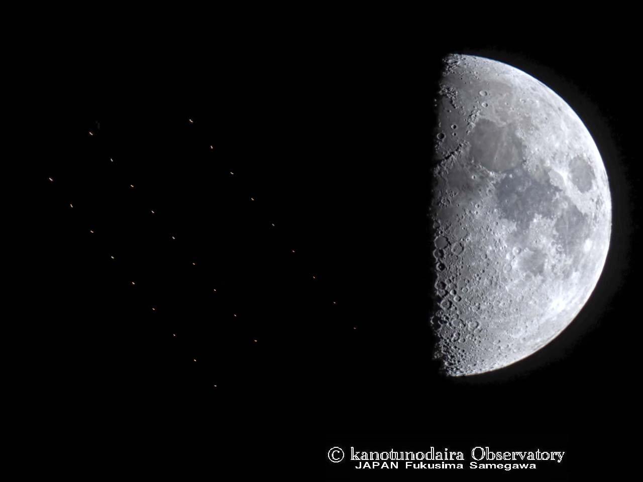 月の傍(明日は火星と接近します&最小半月)