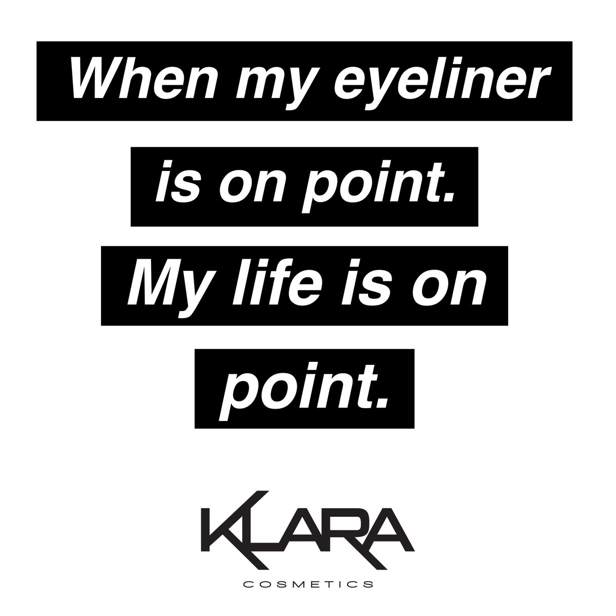 Klara Cosmetics Klaracosmetics Twitter Profile Twipu Liquid Eyeliner 1 Black The Relief Of Drawing On Perfect Get