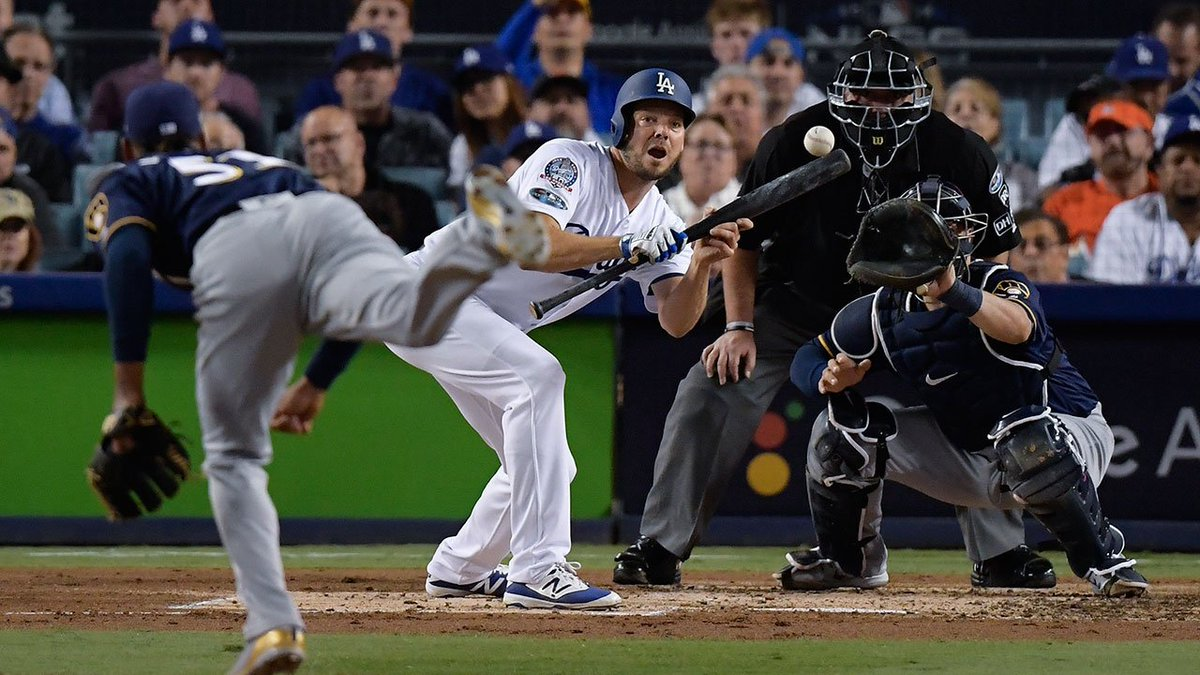 THIS JUST IN: LA #Dodgers take Game 4 with 2-1 win over Brewers, even NLCS at 2-2 https://t.co/mGyFz3TGVj