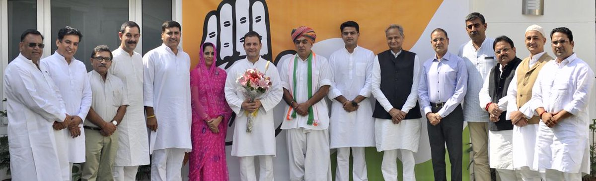 Congress President, @RahulGandhi welcomes Shri Manvendra Singh into the INC family.