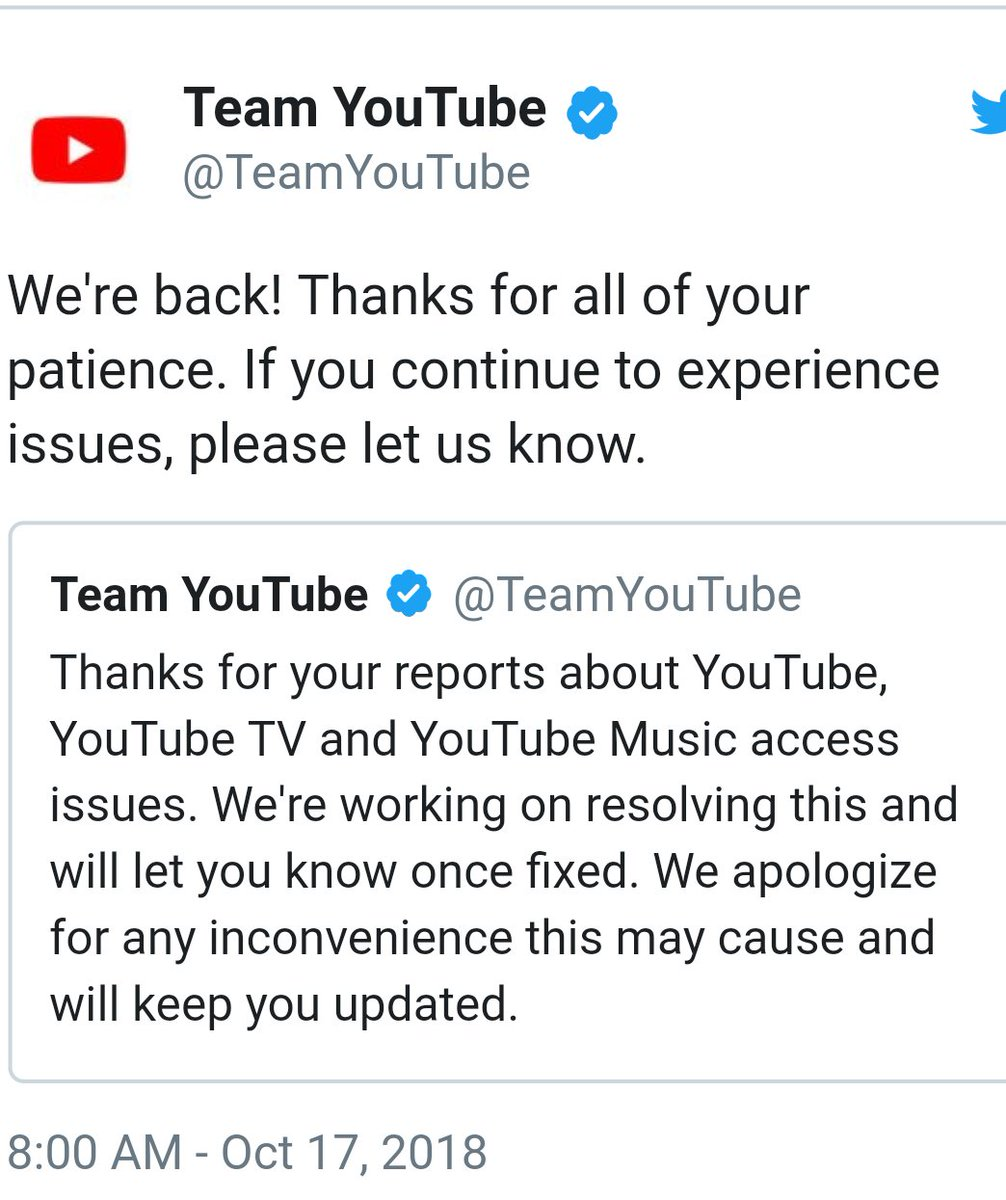 Youtube_error hashtag on Twitter