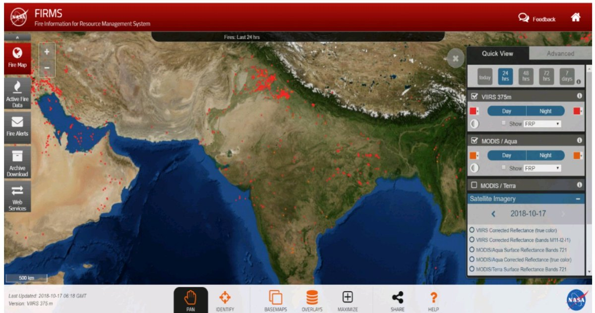 Latest satellite images show crop residue burning at dangerous levels  Environment Minister @ImranHussaain  releases latest NASA image of North India, Crop residue burning must be immediately halted otherwise entire north India will suffer.