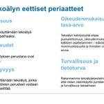 Image for the Tweet beginning: #Tekoäly'n #etiikka puhuttaa! Rekrytoimme ensimmäisten