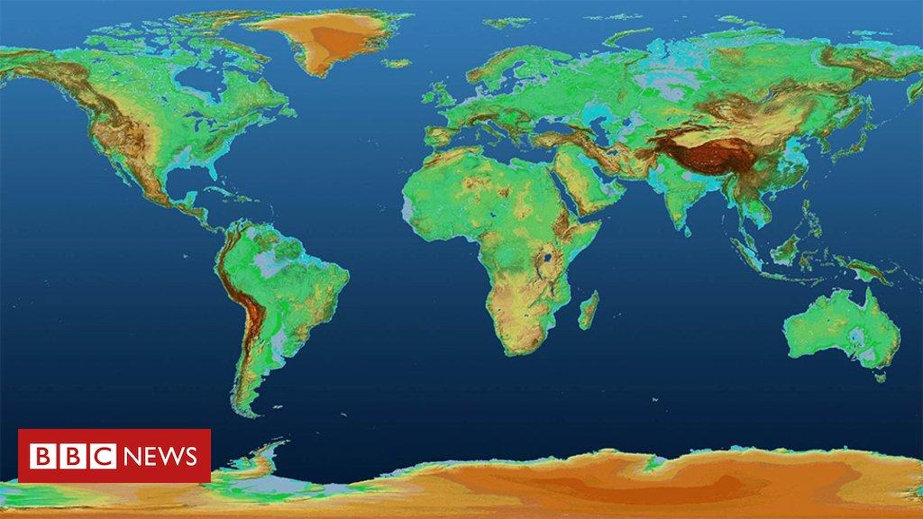O mapa em #3D que mostra com precisão os pontos altos e baixos da superfície da Terra https://t.co/X69dNRp4C2