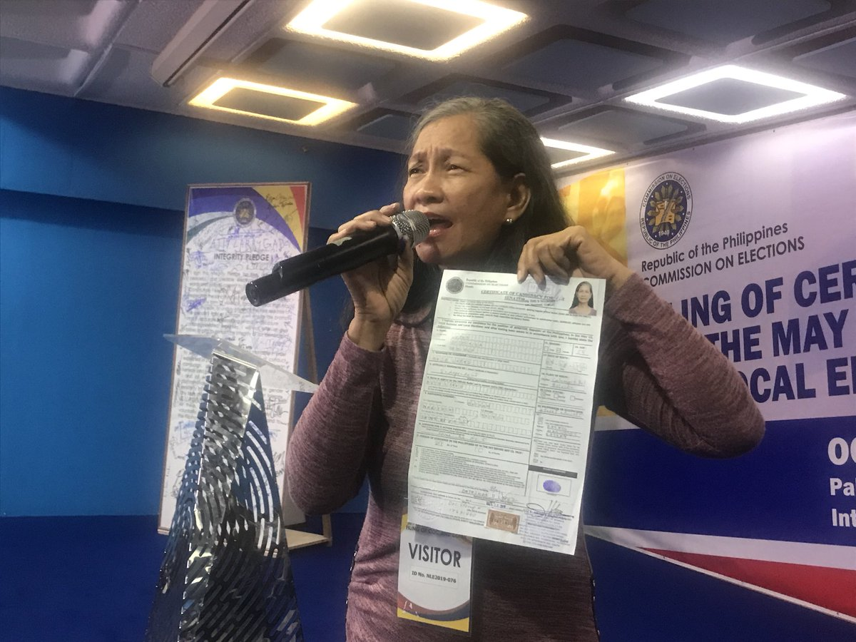 LOOK: Senate hopeful Bethsaida Lopez said she will push for a Senate bill that will ban Clash of Clans and Defense of the Ancients (DOTA), saying these games negatively influence the youth. #VotePH | @cgonzalesINQ https://t.co/t0rmhMLzTz