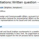Here is the news in two UK govt statements yesterday.   1. UK is supporting continuing the war in Yemen.   2. Arms exports will continue: even limiting them is ruled out.   https://t.co/LvWvVIIsNZ / https://t.co/0x3VhSPgDH