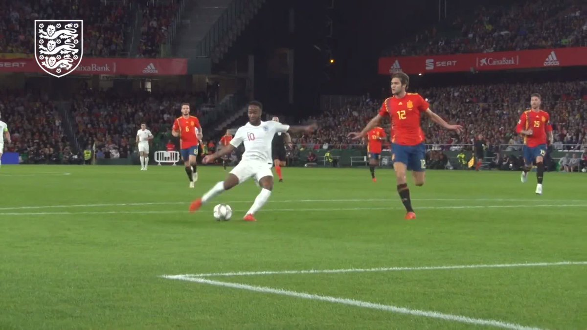 This angle of that goal... 🤩 Watch pitchside action from the #ThreeLions' win in Spain, exclusive to our YouTube channel: youtu.be/Ats9pKm2FGw