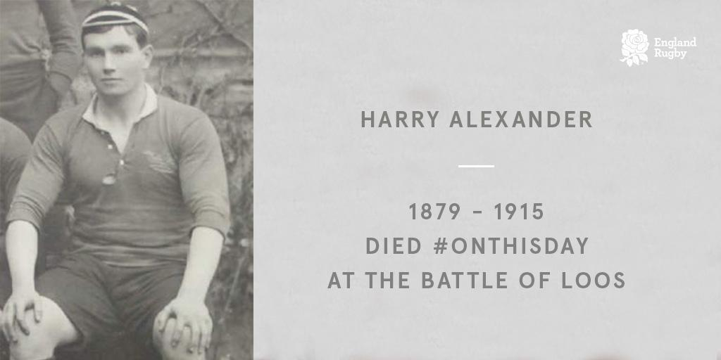 test Twitter Media - Remembering the 27 England internationals who lost their lives in #WW1.  A tribute to Harry Alexander: https://t.co/7H0Zze00bf  #RugbyRemembers @wrugbymuseum https://t.co/y6O3st4ktT
