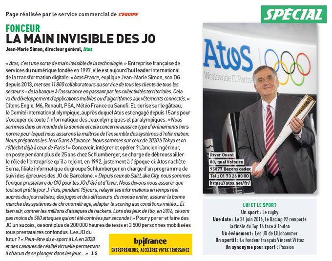 Interview de @jeanmarie_simon à découvrir dans le magazine de @lequipe cette semaine :...