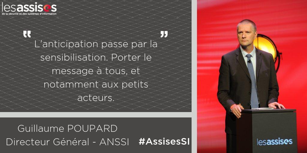 Lors des #AssisesSI Guillaume Poupard (@ANSSI_FR) a rappelé la prépondérance de l\