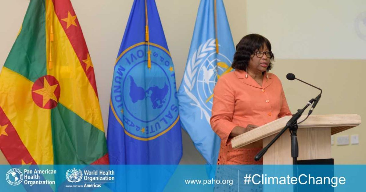.#ClimateChange isn't going to happen. It's happening‼️ I want to challenge you all to move from the problem to the solution. We need to put our solution caps on. - @CarissaEtienne  III Global Conference on Health and Climate Change, Grenada #ClimateImpact🇬#HealthForAll🇩