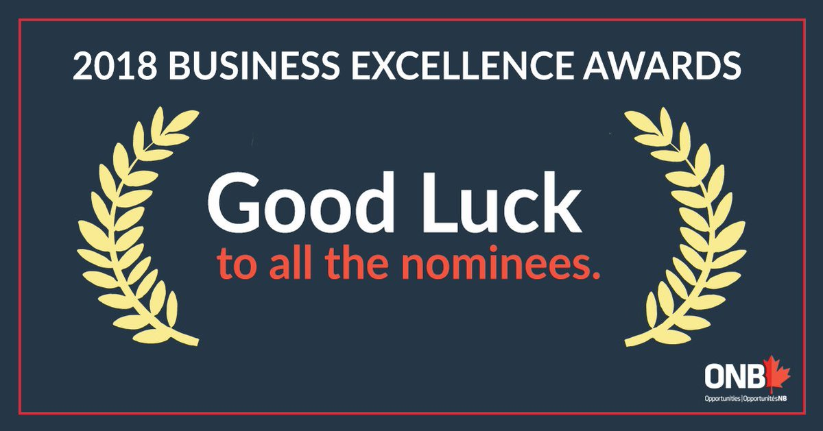 Whether you're in #Fredericton, #Bathurst or #Miramichi, this Thursday is the night to celebrate business excellence in #NewBrunswick!<br>http://pic.twitter.com/xPRtROE2vj