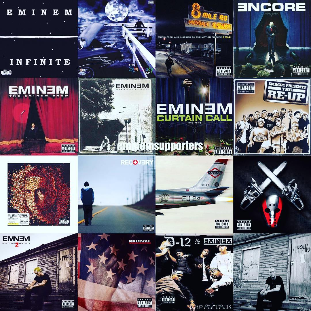 Happy 46th Birthday, Eminem  Every album has released since 2000 has debuted at the top of the charts