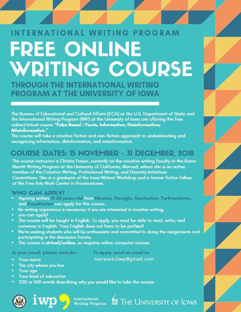 free creative writing classes near me
