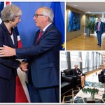 President @JunckerEU meets Prime Minister @theresa_may ahead of tonight's EU27 dinner on #Article50 #Brexit negotiations. #EUCO