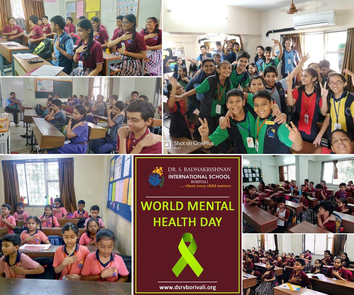 """Dr. S. Radhakrishnan International School Borivali celebrated """"World Mental Health Day"""" on 10th October, 2018. The theme was 'Young people &amp; Mental Health in a changing world'.  #MentalHealthDay #Music #Dance #Awareness<br>http://pic.twitter.com/vsm6xrM8VQ"""