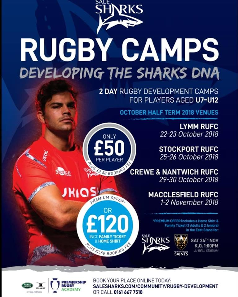 test Twitter Media - HALF TERM RUGBY CAMP 1st-2nd NOV!!  🏉 2 day @salesharks Rugby development camp at MRUFC for aspiring U7-U12 players.  ⌨ Book now https://t.co/FV63Gd1vAm  ☎️ 0161 667 7518  #maccrugby #rugbyfamily #macclesfield https://t.co/a57H0a6dBa
