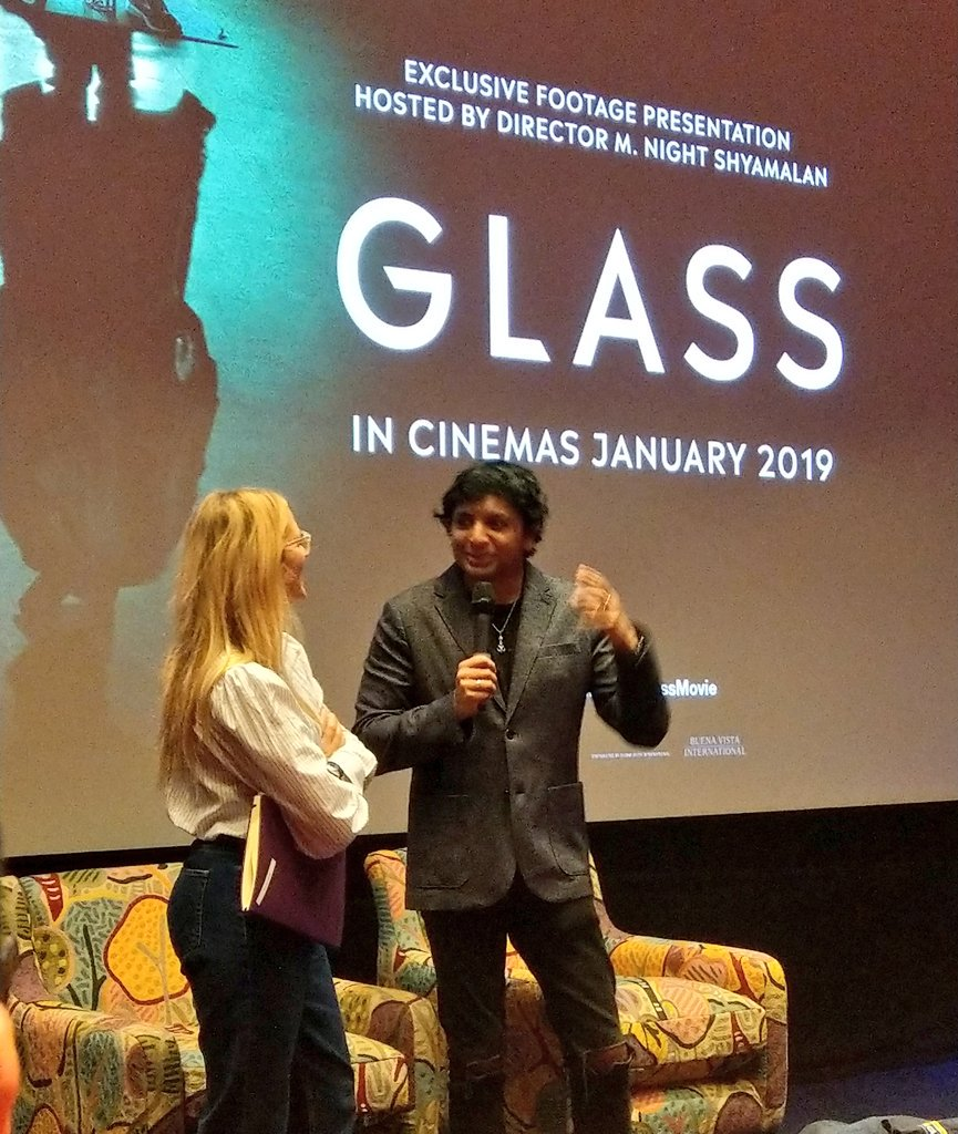 Got to see 22 minutes of #GlassMovie just now. That&#39;s gonna be a fuckin&#39; banger   Bit cheeky of that bloke who&#39;s in all of M. Night Shyamalan&#39;s films to turn up n do a Q&amp;A though... <br>http://pic.twitter.com/8NgJ6NRG6A