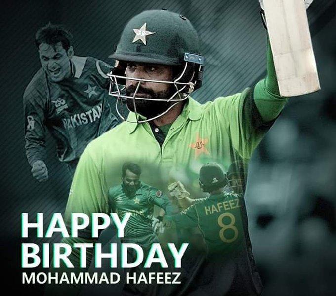 Happy Birthday Mohammad Hafeez, the veteran all-rounder turns 38 today
