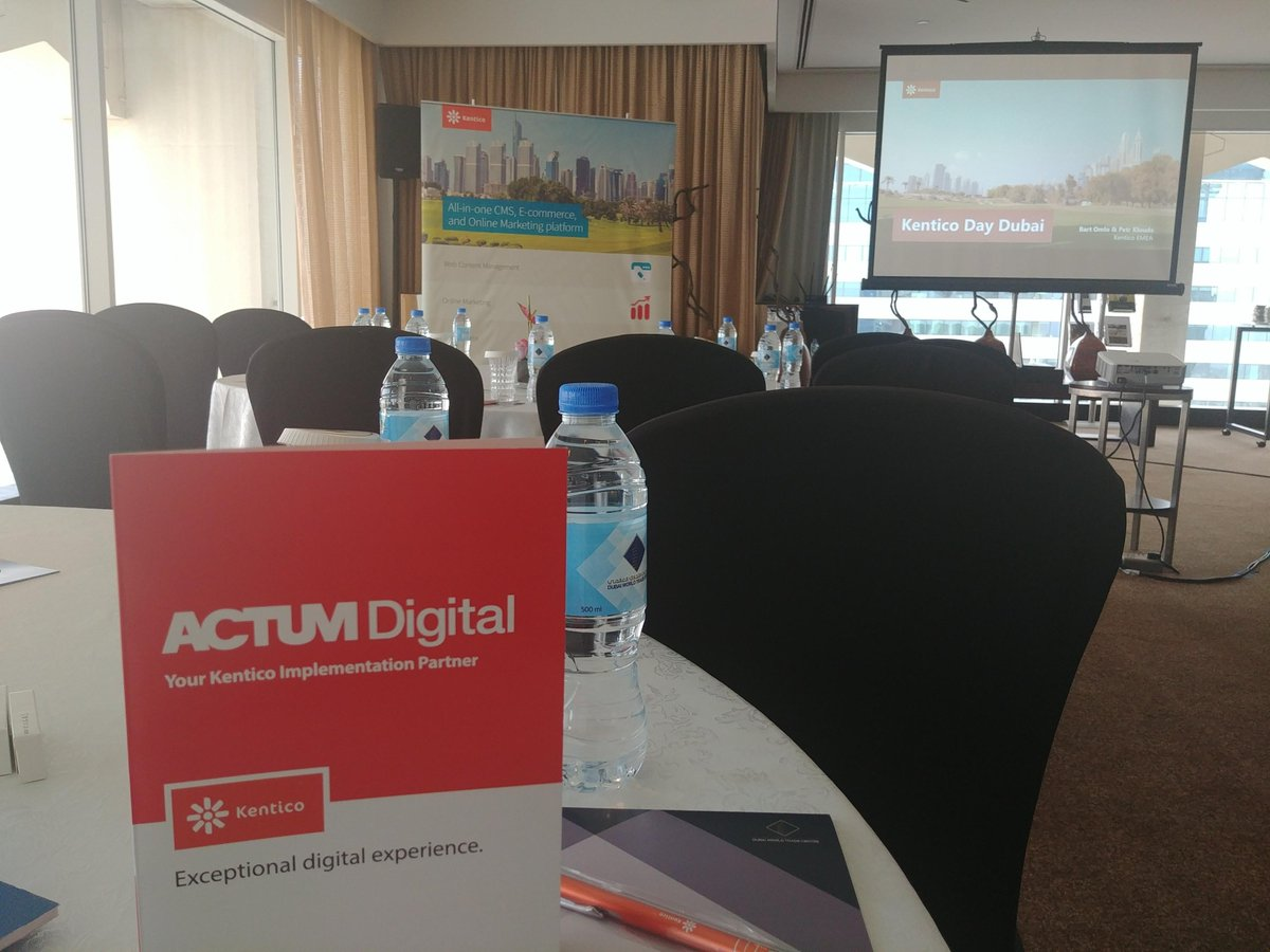 Neither we can not miss today's @Kentico Day in Dubai. And we look forward to, what news will be presented in their product lines Kentico EMS and Kentico Cloud. #Kentico #ACTUMPeople #digitaltransformation #contentmanagementsystem https://t.co/L2Ul8qyN7A