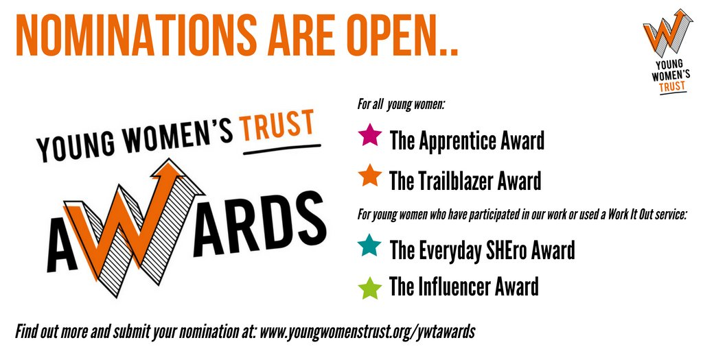 Young Womens Trust On Twitter Nominations Are Open For The