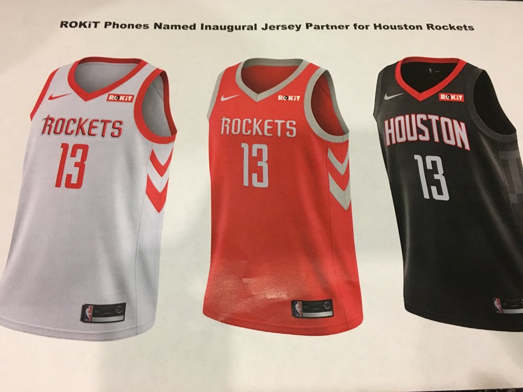 ff34996c6eaa With Houston Rockets adding sponsor ROKiT to jersey patch