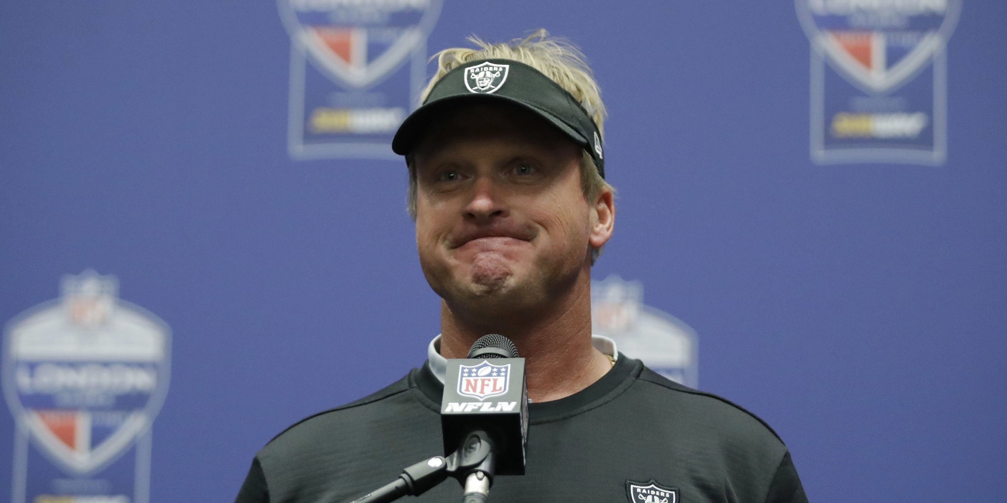 Gruden: Raiders 'aren't tanking' for top draft pick https://t.co/NaNNChMHjx https://t.co/vYI6ripC25
