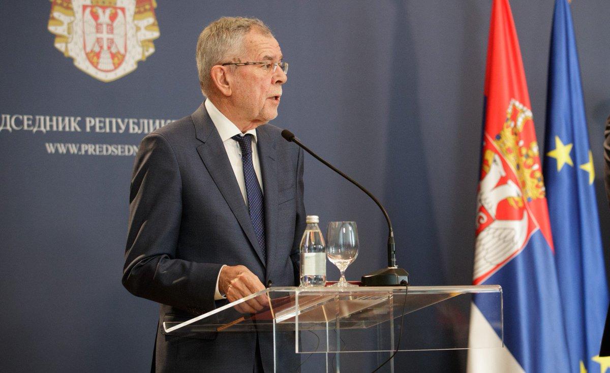 Austrijski predsednik danas u Srbiji🇷🇸, evo šta je rekao o dijalogu na relaciji Beograd - Priština 👇